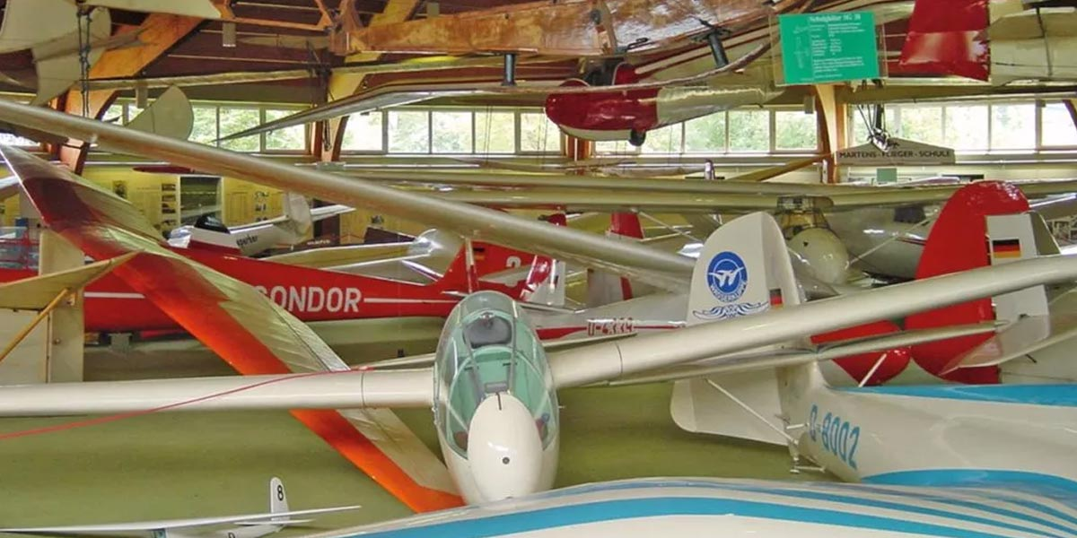 Gliding museum with model flight Wasserkuppe